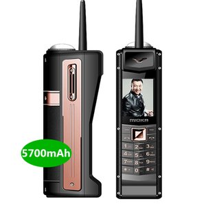 Big Retro Handy-Luxus-Gold Classic Antenne Energien-Bank 5700mah lange Standby-Voice Changer SOS Dial Black List Big Button Cellphpne