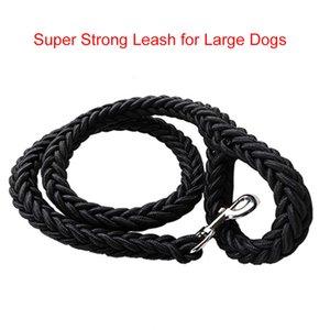 Super Strong gros Nylon Dog Leash armée verte toile double rangée collier de chien réglable pour chiens Moyen Grand L / XL 130cm Nylon