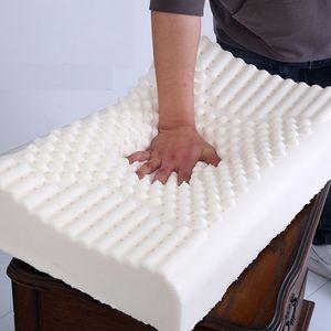 Tailândia Pure Natural Latex Pillow Neck Cervical Spine Protective correctores massagem Almofadas corpo adormecido Almofadas T200729