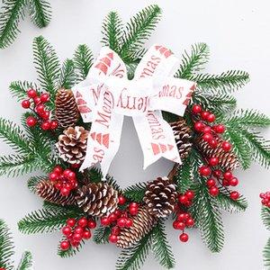 Christmas Wreath Window Front Door Wall Hanging Ornament Wreath Decoration Fruit Pine Christmas Decorations Oc18