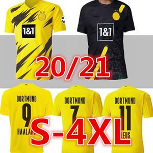 S-4XL HAALAND Borussia Dortmund camiseta de fútbol 20 21 2020 2021 camisetas de los hombres 110a SANCHO REUS Hummels BRANDT Götze niños kit maillot