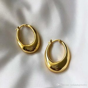 Europe and America Fashion Earrings Yellow Gold Plated Hoops Earrings for Girls Women for Party Wedding Nice Gift for Friend