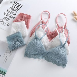 New French Pink Ultra-thin Cotton Underwear Set Summer Sexy Lace Wire-Free Push Up Bra Set Spring Women Plus Size Lingerie Sets Y200708