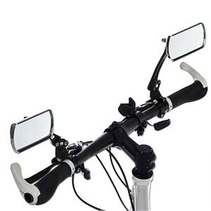 Durable 2 piezas de aluminio espejo de la bici MTB de la bicicleta ajustable Retrovisor manillar Extremo trasero Volver adapta a la mayoría de los accesorios de bicicleta manillar
