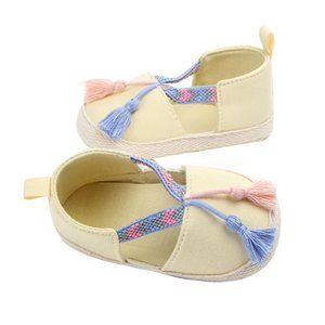 Baby bed baby soft bottom tassel walker flat shoes non-slip princess skirt shoes breathable easy to put on and take off
