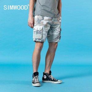 SIMWOOD yeni kamuflaj kargo şort erkekler enzim 2020 yaz çok cepli gündelik yüksek kaliteli giyim SJ110547 yıkamak