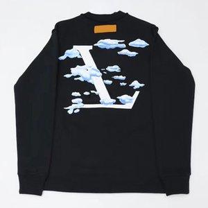 Cielo 20SS nubes blancas impresas con capucha Hombres Mujeres Parejas manera fresca ocasional de la calle suéter suéter de manga larga HFHLWY191 cómodo