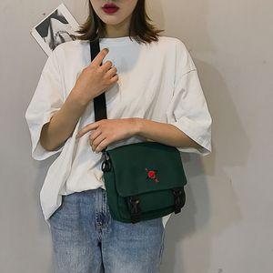 YXZ Universe Pattern Canvas Handbags for Women 2020 Summer New Hasp Creative Cartoon Shoulder Bags Female Messenger Bags