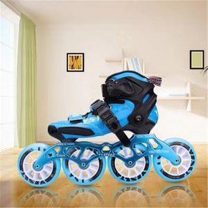 2020 Carbon Fiber Inline Speed Skates Shoes for Children Kids Fibre Racing Track Competition 4X90mm 3X100 110MM 3-wheels Pro
