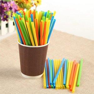 Disposable Drinking Straw Colorful Black Fruit Juice Soybean Milks Sharp Head Straws Short Fine For Bar Night Club Use 1 2 bm ZZ