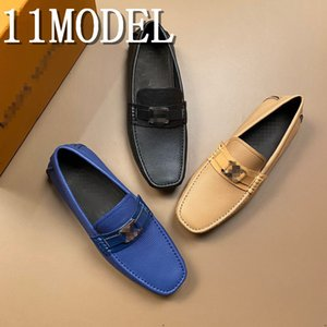 19ss 2020 Suede Loafers Men Bottoms Breathable Casual Shoes Man luxurious Brans Flat Loafer Slip On Driving Shoes Plus Size 38-46
