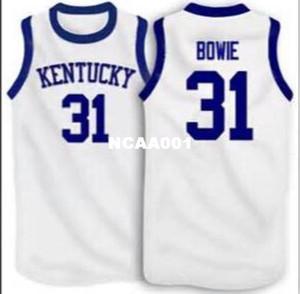 Vintage # 31 Sam Bowie Kentucky Wildcats branco da malha bordados Bsaketball Jersey Tamanho S-4XL ou personalizado qualquer nome ou número de camisa de basquete
