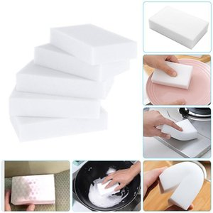 Белый меламин губки волшебная губка Eraser Меламин очиститель для кухни офиса ванной очистки Nano Губки DHA460