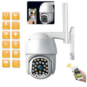 1080P WIFI IP Camera Wireless Outdoor CCTV HD Home PTZ Security Automatic tracking Alarm IR Cam 23 LED Waterproof Phone Remote Monitor