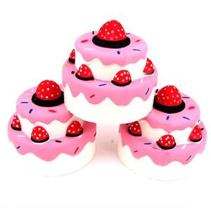 Nuova torta giocattolo modello alimentare giocattolo squishy rimbalzo lento tre fragola doppio strato di simulazione strato di torta di fragole