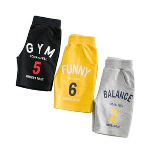 Kids Boys Shorts 16 Colors Striped Letter Knee-Length Pants Toddler Leisure Sports Baby Clothing Dinosaur Pocket Elastic Pants 1-9T