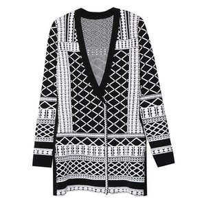 HIGH QUALITY Autumn Winter New Fashion 2020 Designer Sweater Cardigan Women V-neck Luxury Beaded Knitting Jacket Outer Clothes