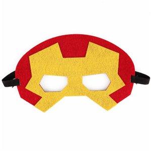 Войлок Маски для сторон Хэллоуина Маскарад для маскирования Маскарад Партия Дети Мультфильм Ультрачеловек Железный Человек глаз