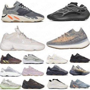 신발을 실행하는 새로운 관성 (700 개) 웨이브 러너 남성 여성 디자이너 운동화 병원 블루 (700) V2 자석 테프라 최고 품질 카니 예 웨스트 (Kanye West)