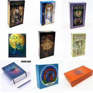 Tarots espagnol Smith Waite Shadowscapes Sorcière sauvage Tarot Conseil cartes de jeu avec l'anglais coloré Box Version Family Party Gift Card Game