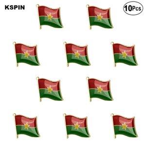 Burkina Faso Flag Lapel Pin Flag badge Brooch Pins Badges 10Pcs a Lot
