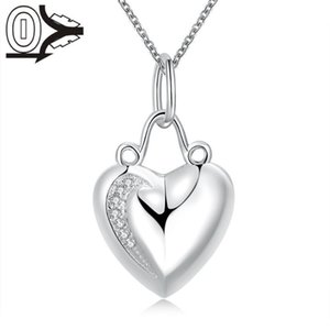New Design!!Wholesale Silver Plated Necklace & Pendant,Wedding Jewelry Accessories,Fashion Aesthetic Heart Silver Necklaces