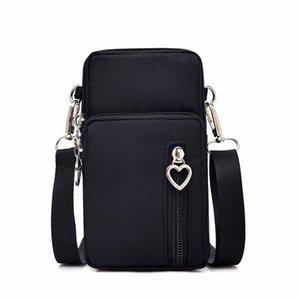 Tessuto Diysomes Oxford Fornitura di Messenger mobile verticale Mini piccolo sacchetto del braccio del polso delle cellule della tasca di strato della borsa della moneta delle donne Ba QfUf #