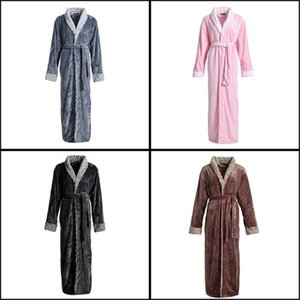 Add fat plus size nightgown female autumn and winter 2020 new pajamas warm flannel bathrobe unisex pijamas women sexy nightwear