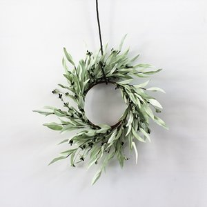Artificial Flower Bay Leaf with Berries for Home Decoration Wedding Party Plant Wall Accessories Simulation Flower Wedding Decor