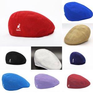 ins Pointed cap beret super hot hat men's and women's all-match kangol beret polyester mesh kangaroo peaked cap elegant same style