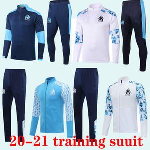 Mailoots de oep 2020 2021 Olympique de Marseille Scurksuits 20 21 Футбольный костюм костюм Payet Benedetto Om Куртка наборы выжившего