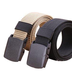 2020 Men Tactical Belt Nylon Waist Belt With Plastic Buckle Adjustable Outdoor Army Belts 2 pack Lightweight