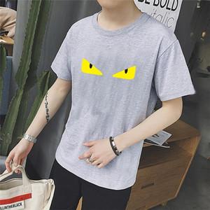 시원한 여름 짧은 소매 남자의 연인 '커플 눈 인쇄 남자 t 셔츠 의류 플러스 사이즈 S-3XL 꼭대기 O를 목 t 셔츠 망