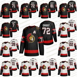 Ottawa senatori 2020-21 Casa Jerseys Thomas Chabot Brady Tkachuk Ron Hainsey Mark Borowiecki 0craig Anderson Ryan Karlsson Hockey Jersye