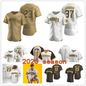 San Diego-2020-Padres Manny Machado Eric Hosmer Wil Myers Luis Urie Austin Hedges Fernando Tatis Jr Mejia Wil Myers maillot de baseball S-5XL