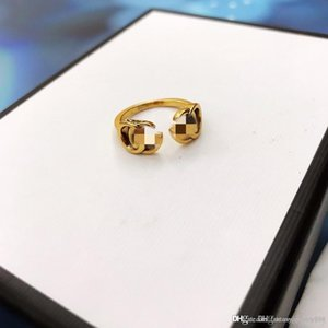 Spring and summer new fashion letter opening designer ring custom brass material luxury designer jewelry women rings
