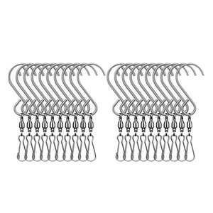 20Pcs Swivel Clip Hanging Hooks Stainless Steel for Hanging Wind Spinners Wind Chimes Crystal Twisters Party Supply CNIM Hot