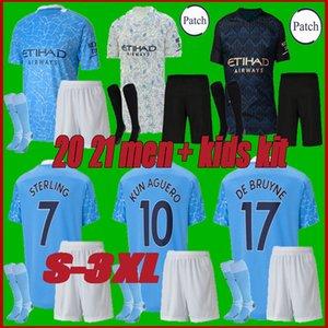 hommes + enfants kit 20 21 manchester G. JESUS maillot de football Mahrez 19 20 DE BRUYNE KUN ville maillot de football AGUERO