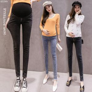 2020 2020 New Spring Autumn Pregnancy Maternity Clothing Elastic Jeans Pants Pregnant Women Clothes Nursing Skinny Denim Trousers A03 XqEM#