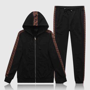 European designer men's fashion zipper sportswear men's casual printed shirt suit and pants Medusa sportswear