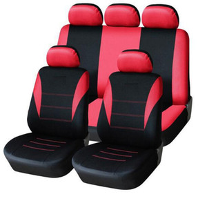 Universal Car Seat Cover 9pcs Seat Covers completa Fittings Sedans Interior Acessórios Auto Car adequado para o cuidado Car Seat Protector F-01