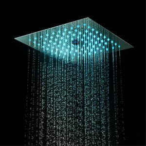 광장 강우 샤워 헤드 욕실 LED 샤워 헤드 (304) 스테인레스 스틸 크롬 샤워 패널 마사지 천장 소나기