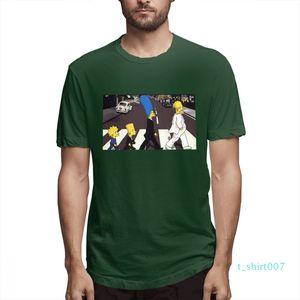 Cotone I Simpson moda progettista delle camice delle donne Camicie maniche corte Mens Shirt Il Simpsons stampato magliette causale c3503t07