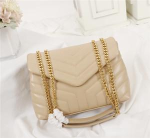 Лулу Y-образный стеганые натуральная кожа женщин сумки цепи мешок плеча высокого качества лоскут мешок многоцветность 2 размера 25см и 32см 487219