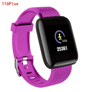 116plus Smart Bracelet Waterproof Fitness Tracker Watch Heart Rate Blood Pressure Monitor Pedometer Smart Band Women Men