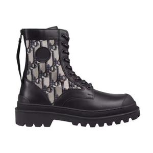 Männer Frauen Oblique Knöchel Martin Stiefel Rois Stiefel Nylon Derby Explorer Kalbsleder Trainer Qualitäts-Schwarz-Leder-Schuhe Fashion Outdoor-Schuh