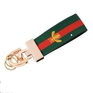 Car key chain French bee luxury key chain for men and women leather canvas clasp luxury lv688