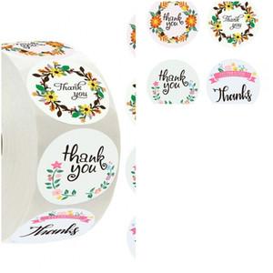 Etiqueta de papel auto-adhesivo de fiesta de agradecimiento Evento etiquetas engomadas del caramelo pegatina de Navidad Día de empaquetado Circular envío 1 99rla D2