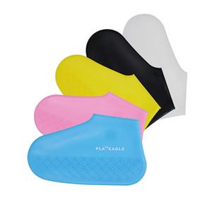 Su geçirmez Ayakkabı PLAYEAGLE Silicone'nun savrulmaz spor ayakkabı yağışlı günlerde Renkli taze ayakkabı kapağını kapak Kapaklar