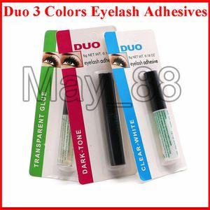 Drop Shipping Duo Eyelash Adhesives Eye Lash Glue brush-on Adhesives vitamins white clear black  5g New Packaging Makeup Tools